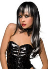 Courtney Wig Black W/ White