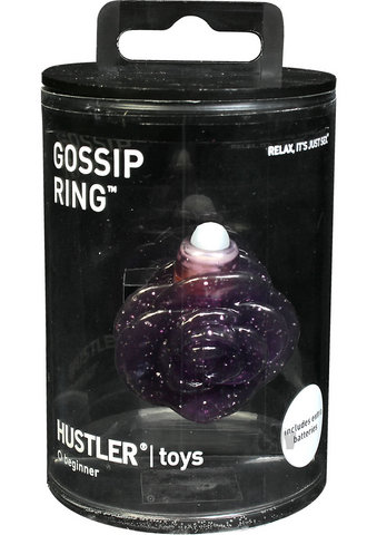 Gossip Ring Purple Glitter
