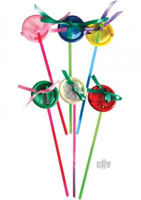 Condom Party Swizzle Stick 6/pk