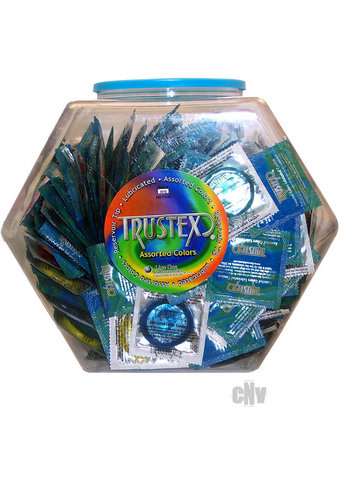 Trustex Lubed Asst Colors - 288pcs