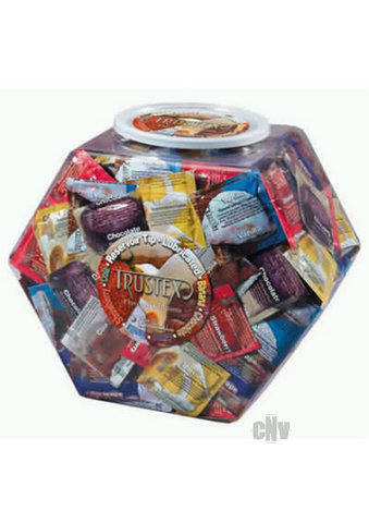 Trustex Asst Flavor Condoms 288/bowl