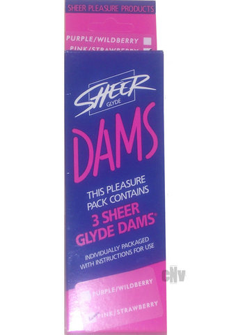 Sheer Dental Dams Pink/strwbry