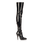 Seduce 5 Blk Stretch Thigh Boot 8