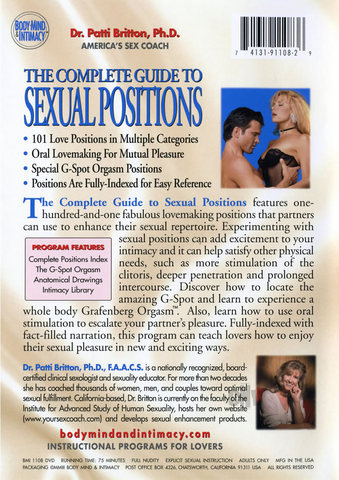 Complete Guide To Sexual Positions