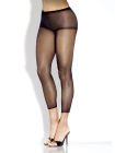 Desire Hosiery-Red Sheer Footless Pantyhose w/ Control Top- One Size