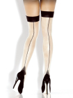 Desire Hosiery- Nude Cuban Heel Thigh High-One Size