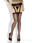 Desire Hosiery- Sheer Lace Top Stocking w/ Attached Garter-One Size