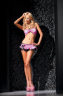 Pink Box Collection- Pink Halter Bandeau &amp; Ruffle Skirt- XL