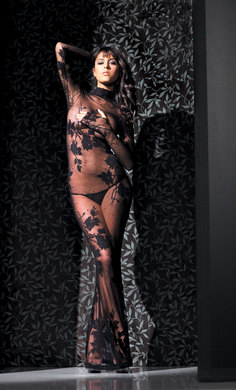 Fantasy Lingerie- Long Sleeve Full Body Lace Dress