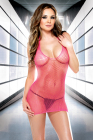 Fantasy Lingerie- Halter Slinky Net Dress