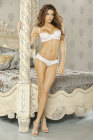 Simply Sexy Bridal- Honeymoon Sweet- Swirl Embroidery Detail Bra &amp; Panty- Large
