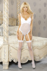 Simply Sexy Bridal- Something Blue- Ruffle Teddy w/ Garter & Blue Bows- Medium