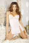Simply Sexy Bridal- Chantilly Lace- Low Back Babydoll & G-string- Large