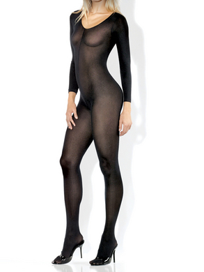 Desire Hosiery- Long Sleeve Sheer Bodystocking- Queen