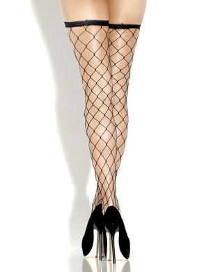 Desire Hosiery- Fence Net Thigh High- One Size