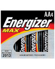 Energizer Battery AA - 4 Pack Alkaline Max Power