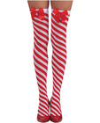 Candy cane thigh highs red/white o/s Sex Toy Product