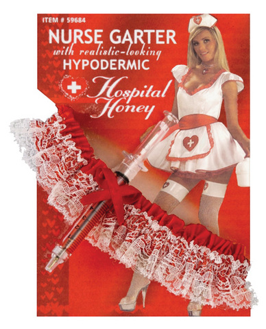 Hospital honey nurse garter w/hypodermic