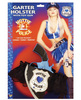 Hottie police leg garter holster w/toy gun