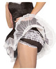 French maid panties w/ruffle back