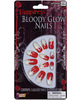 Vampiress bloody glow nails