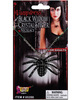 Vampiress black widow crystal spider necklace