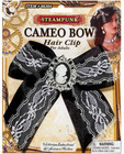 Steampunk cameo bow hair clip