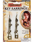 Steampunk key earrings