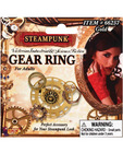 Steampunk gear ring - gold