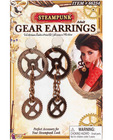 Steampunk gear earrings - bronze