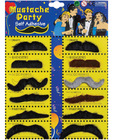 Mustache party self adhesive - card of 12