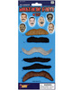 Moustache party self adhesive - card of 6
