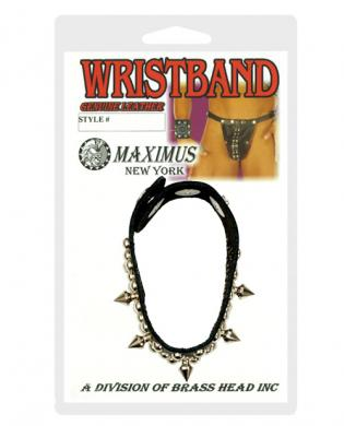 Maximus spikes and studs leather wristband