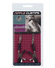 Adjustable alligator nipple clamps w/silver chain