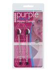Adjustable tweezer nipple clamps w/purple beads