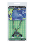 Adjustable broad tip nipple clamps w/link chain