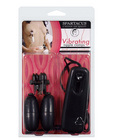 Broad tip vibrating nipple clamps - black