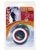 1.25in rubber cock ring set - rainbow pack of 5