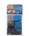 1.25in ball gag w/buckle - black