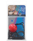 1.5in ball gag w/buckle - red
