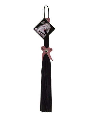 Love knot flogger - black and pink