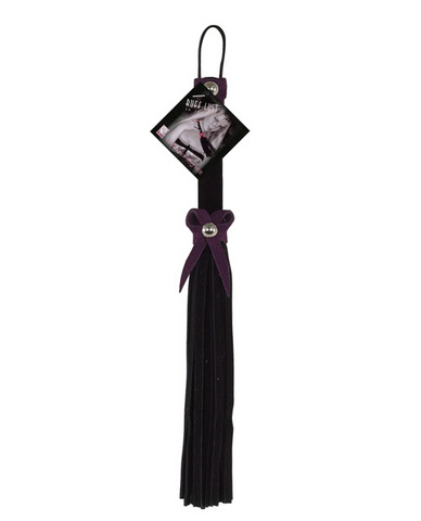 Love knot flogger - black and purple