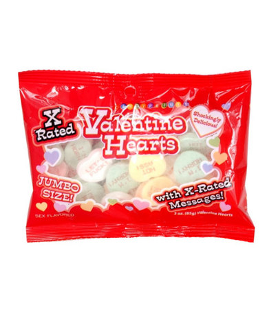 X-rated valentine jumbo heart candy - 3 oz bag