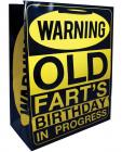 Warning old fart's birthday in progress gift bag Sex Toy Product