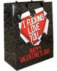 Happy valentines day i fucking love you gift bag
