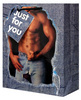 Man in blue jeans gift bag