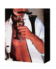 Man in unbuttoned tux drinking champagne gift bag Sex Toy Product