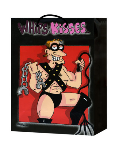 Whips and kisses gift bag