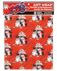 Leather santa claus gift wrap - 2 sheets
