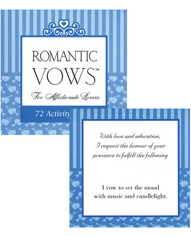 Romantic vows for the affectionate lovers - 72 activity cards